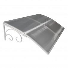 Козырёк над входной дверью/Козырек над крыльцом металлический Петрасвет S4002 Белый